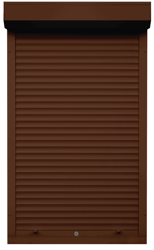 King Shutters & Screens - Brown Aluminium Roller Shutters Color