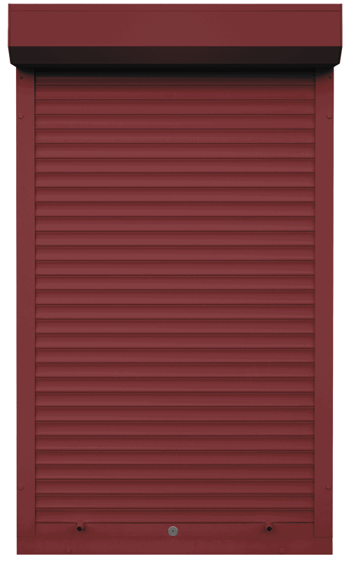 King Shutters & Screens - Red Aluminium Roller Shutters Color