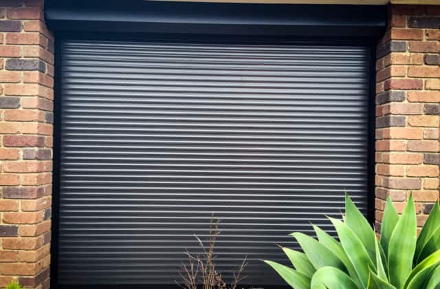 King Shutters and Screens Black Aluminium Roller Shutters Project in Melbourne