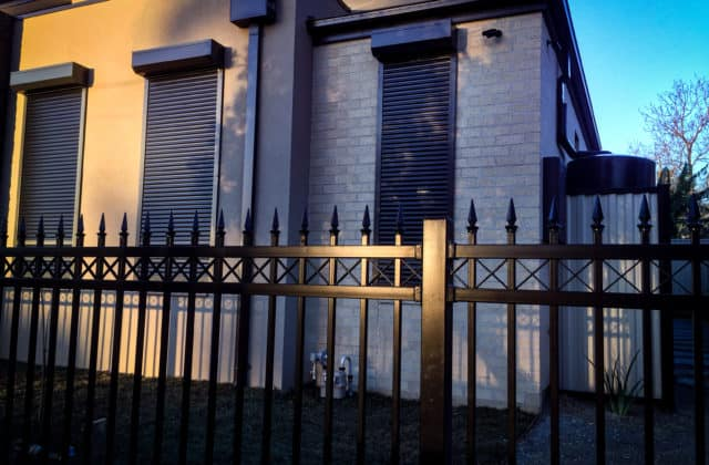 King Shutters and Screens Black Aluminium Roller Shutters on a Townhouse Project in Melbourne