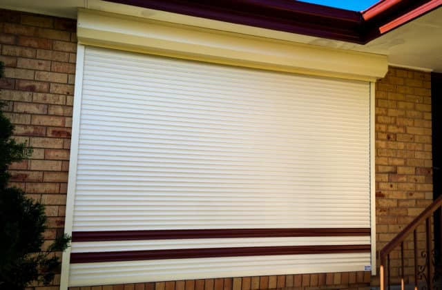 King Shutters and Screens Cream Aluminium Roller Shutters Project in Melbourne