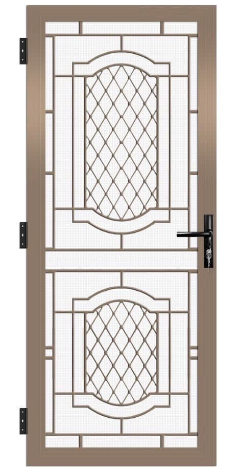 SP44AB Colonial Cast Aluminium Security Door