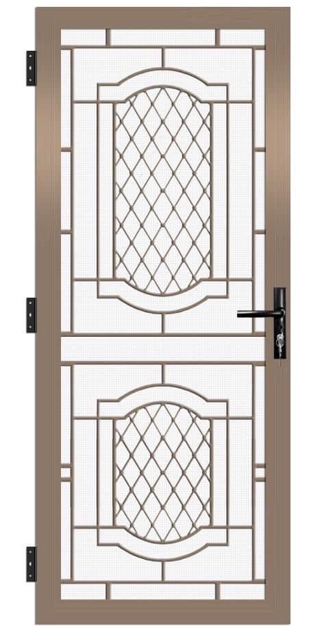 SP44AB Colonial Cast Aluminium Security Door