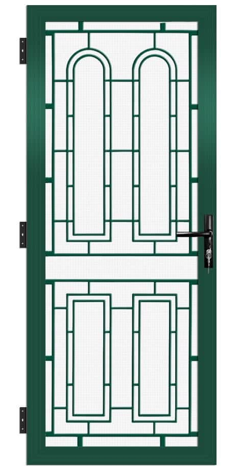 SP51AB Colonial Cast Aluminium Security Door